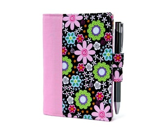 Funky Floral Little List Keeper, Mini notepad clutch, Day planner portfolio, Teacher gift, To do list, Notepad, Coupon holder, Purse notepad