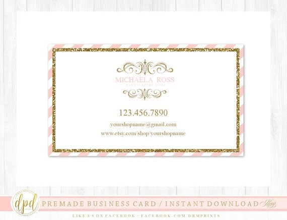 Custom Premade Blank DIY Single Sided Business Card | Business Template | Business Branding | Business Graphics | INSTANT DOWNLOAD-AA111