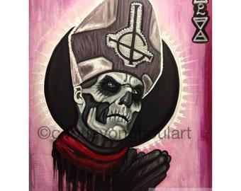 "Papa Emeritus art, Ghost bc art print, 11x17"", papa emeritus II, ghost band art"
