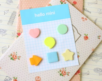 Hello Mini colorful shapes sticky notes