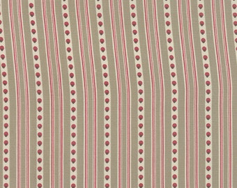Joyeux Noel Moda 3 yds shabby quilt fabric French General Christmas Victorian pearl faded red stripe Kaari Meng cotton 3 full yards 13713-14