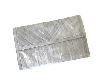 Vintage Eel Skin Clutch Purse, Gray CLutch