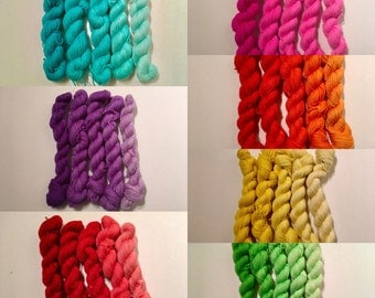 Ombre Gradient Mini-skeins - 435 yds. 75/25 SW Merino/Nylon