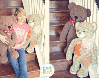 NEW  PATTERN - John the Canadian Teddy Bear Amigurumi Crochet PDF Pattern with Instant Download