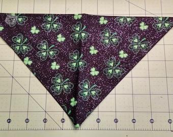 Dog Bandana, St. Patrick's Day, Shamrock, neckerchief, clover, green