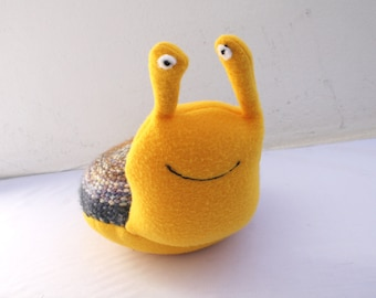 Handwoven snail, pillow, plush,softies