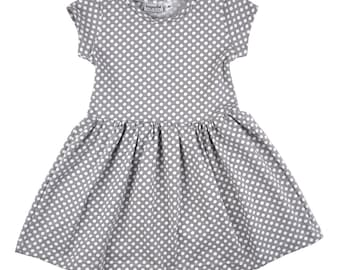Play Dress | Polka Dots | Sizes 3 Months to 7/8 | 2 Sleeve Options | dress, girls dress, baby girl dress, baby dress