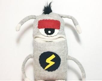 ARNOLD - Handmade Monster, Sockmonster, Rocker