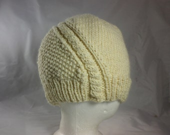 The Road Less Traveled Hand-Knit Wool and Angora Hat