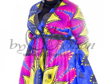 Plus Size Custom Wrap Coat Dress