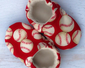 Baby baseball shoes - baseball shoes - baby booties - crib shoes - toddler shoes - boy shoes - girl shoes - shower gift