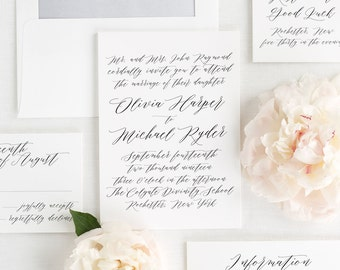 Olivia Wedding Invitations - Sample