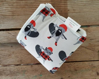 Diaper Changing Pad - Nappy Changing Pad - Lumberjack theme baby changing pad - Baby Changer - Portable Changing Pad - Baby Shower Gift