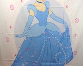 Cinderella Fabric DESTASH, Cinderella Wall Hanging Material, Destash Quilting Material, Disney Quilt Fabric, Gift for Quilter, UNFINISHED
