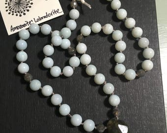 Amazonite and Labradorite Necklace