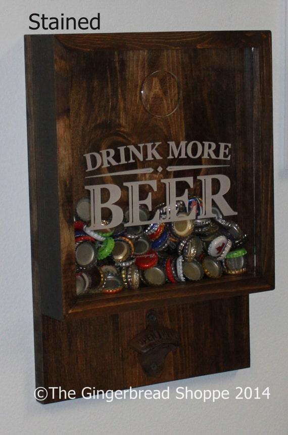 Items similar to drink more beer bottle cap holder bottle for Decor drink bottle