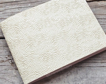 Wedding Guest Book, Off-White Floral Paperback Journal