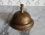 Vintage Antique BRASS Ornate Desk Top/ Shop Keeper/ Hotel Bell