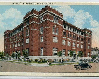 YMCA Building Hamilton Ohio 1920s postcard