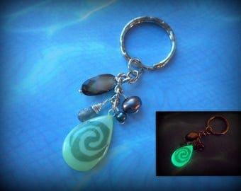 Moana Key Ring, Keychain Glow in the Dark Te Fiti  - 8 hour glow!