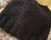 Crocheted Messy Bun Hat!