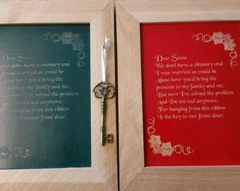 Santa's Magic Key, Christmas Decor, Key for Santa, Wood Plaque