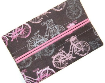 Travel Tissue Holder, Pink and Grey, Travel Tissue Cozy, Pocket Tissue Holder