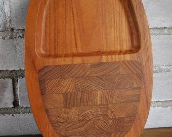 JHQ Jens Quistgaard designed vintage Dansk cutting board teak 1970s