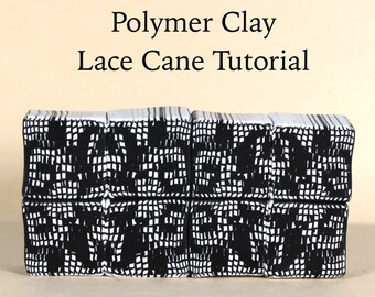 Polymer Clay Lace and Argyle Cane Tutorial