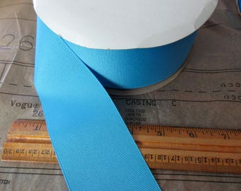 "new roll of 2 1/4"" copenhagen blue grosgrain ribbon - 50yds, polyester, made in USA"