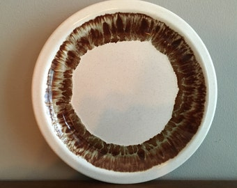 pfaltzgraff country casual brown drip dinner plate (s)