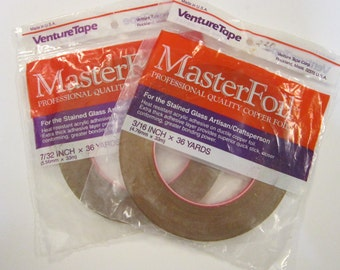 MasterFoil copper foil tape - 7/32 inch or 3/16 inch x 36 yards - your choice for soldering, stained glass, etc - VentureTape