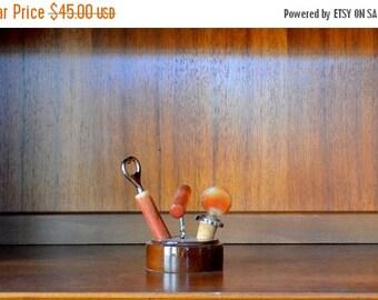 SALE 20% OFF vintage mid-century bar tool set