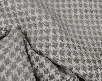 Dotcom Charcoal Grey Houndstooth Upholstery Fabric