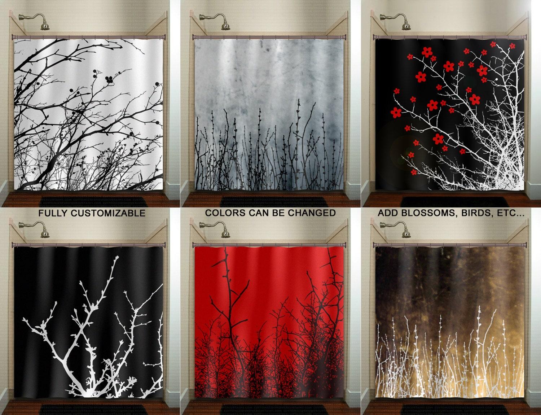 Willow Twigs Tree Branch Grass Sticks Shower Curtain Bathroom