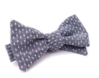 Polka Dot Bow Tie, Kids Bow Tie, Blue Bow ties, Grey bow ties, Bow ties for boys, Toddler Bow Tie, Denim Bow Tie, Wedding Bow Tie