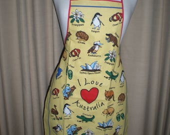 Australian Animal Opera House souvenir apron Great overseas gift for family and friends Cotton fabric