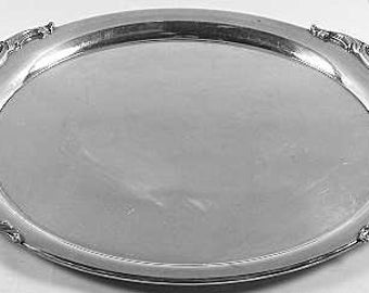 "Vintage Lunt Silverplate ELOQUENCE 15"" Round Serving Tray"