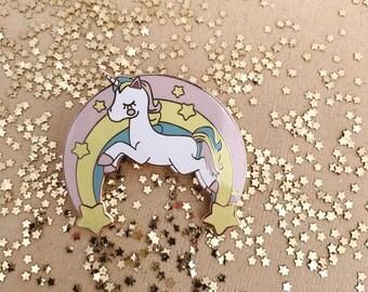 "2"" Unicorn Enamel Pin"