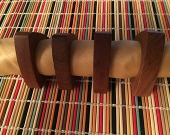 MCM Teak Napkin Rings / Set of 4