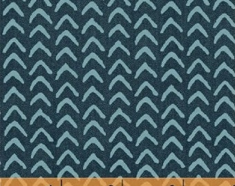 Atlas by Another Point of View for Windham Fabrics - Full or Half Yard Arrows Modern Geometric - Boomerang Teal Fabric