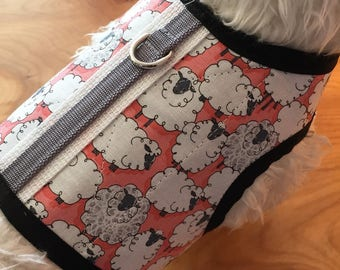 SALE Silly Sheep Small Dog Harness Made in USA, dog harness, dog harnesses