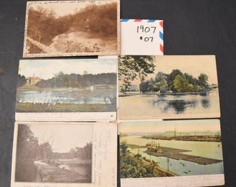 Vintage postcards, FREE SHIPPING 14 cards, 1907, photo cards, colored photos,  card-making, scrap-booking, paper crafts 007