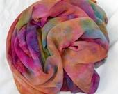 Hand dyed Silk Fabric, Silk Chiffon Length, Ready to ship, 84 x 44 inches by  SallyAnnesSilks on Etsy C33