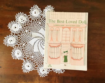Vintage Children's Book Decor The Best Loved Doll Girl's Room Pink Illustrated