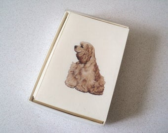 Vintage Cocker Spaniel Dog Stationery Crane's Notecards Casuals by Crane's
