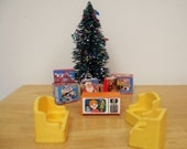 Vintage Fisher Price Living Room with TV