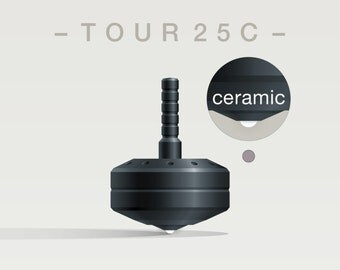 TOUR 25CS – Precision spinning top with accent holes and ceramic tip - desk and pocket top