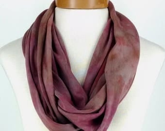 Infinity Scarf in Taupe and More, Bamboo Jersey Scarf, Hand Dyed Scarf, Neck Wrap