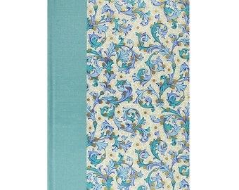 Journal Blank Paper Florentine Blue